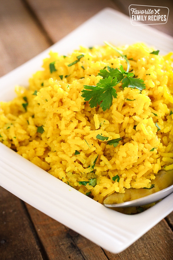 Yellow rice specially cook for you