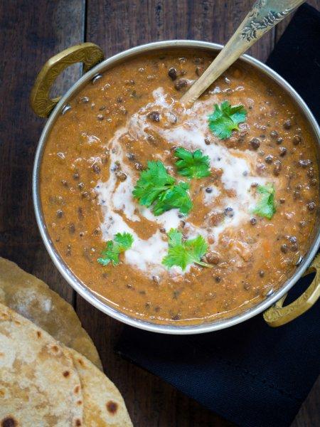 Tasty Dal makhani and butter roti