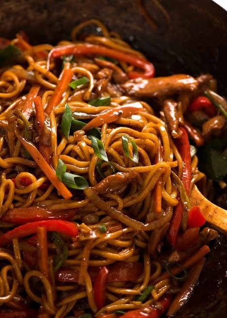 Veg noodles specially cooked for you
