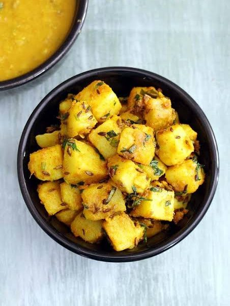 Yummy jeera aloo cooked for you specially