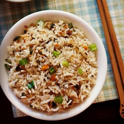 Pure veg fried rice specially cooked for you